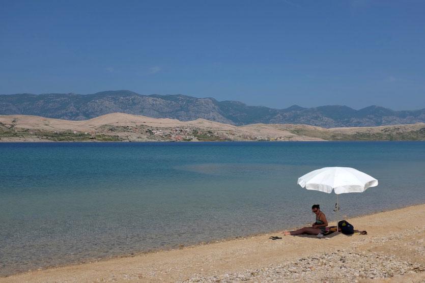 Sveti Duh Beach Strand Camping Pag Kroatien