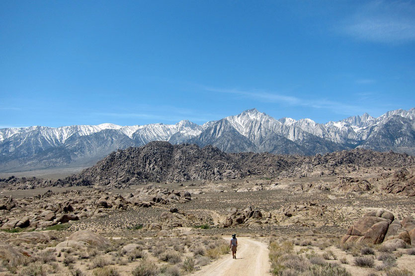 trail at Alabama Hills in Lone Pine USA