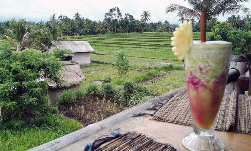 Restaurant im Reisfeld von Ubud