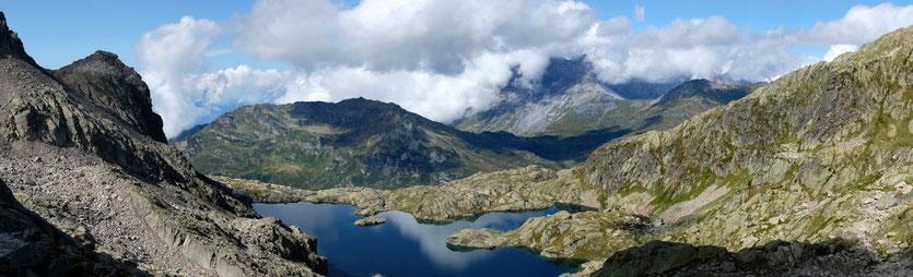 Lac Cornu Aiguilles Rouges Wanderung trail Chamonix