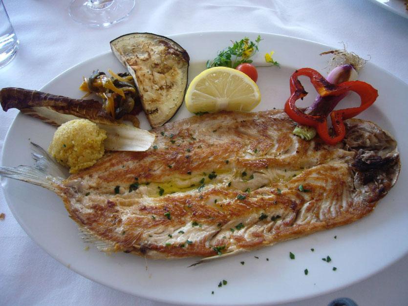 Gardasee Lavarello gegrillter Fisch
