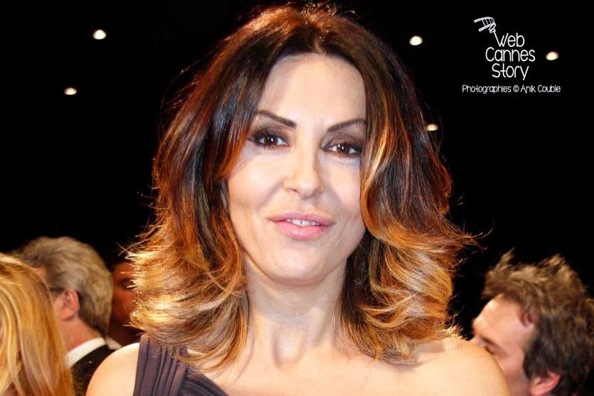 Sabrina Ferilli, lors de la projection du film «La Grande Bellezza» de Paolo Sorrentino - Festival de Cannes 2013 © Anik COUBLE