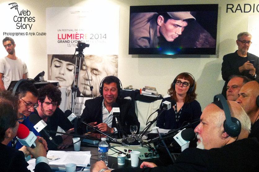Laurent Gerra, Felix Moati et Chrisitan Carion, invités de Radio Lumière - Festival Lumière - Lyon - Octobre 2014 - Photo © Anik COUBLE