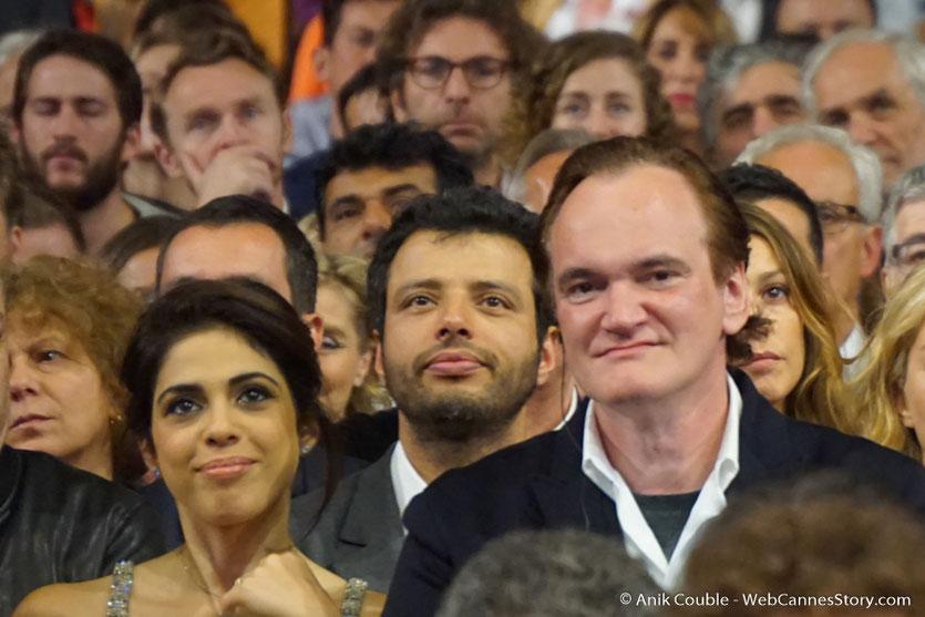 Quentin Tarantino et Daniela Pick, parmi les nombreux invités de la Halle Tony Garnier - Cérémonie d'ouverture - Festival Lumière 2016 - Lyon - Photo © Anik Couble