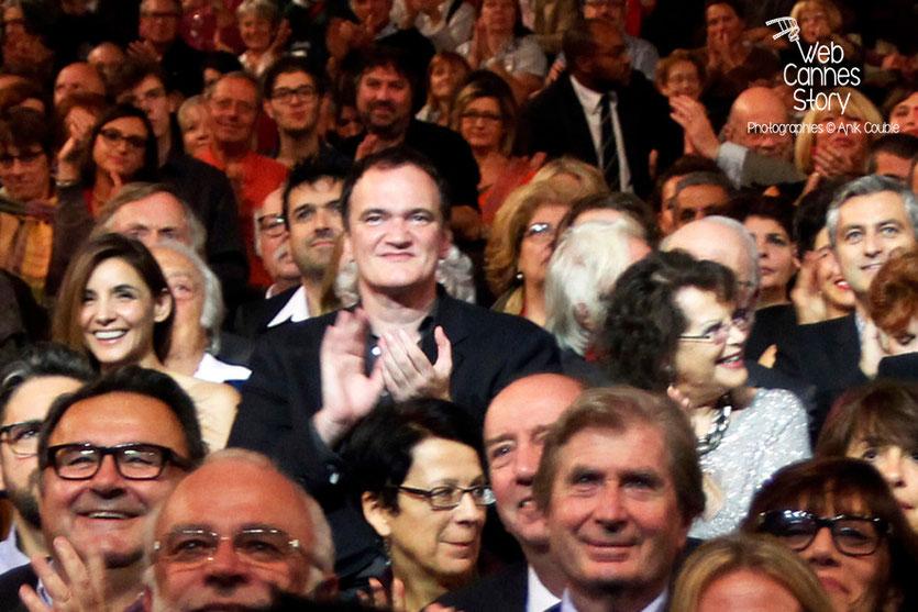 Clotilde Courau, Quentin Tarantino et Claudia Cardinale - Festival Lumière - Lyon - Oct 2013 - Photo © Anik COUBLE