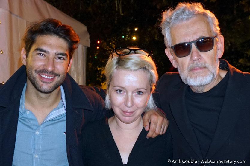 Louis Hamelin, Mary-Noëlle Dana, Yves Bongarçon, 3 des  formidables chroniqueurs de Radio Lumière - Festival Lumière 2017 - Lyon - Photo © Anik Couble