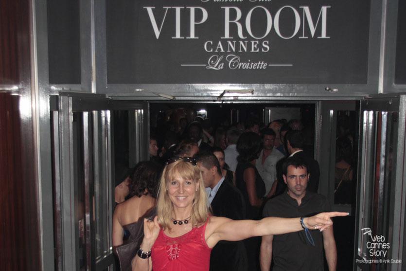 Patricia Vermare (Discothèque l'Imprévu à Lyon) , au Vip Room de Jean-Roch - Festival de Cannes 2012 - Photo  © Anik Couble