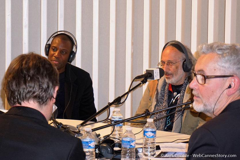 """Abd Al Malik, Jerry Schatzberg et Yves Bongarcon  à  """"La Grande Emission"""" de Radio Lumière - Festival Lumière 2016 - Lyon - Photo © Anik Couble"""