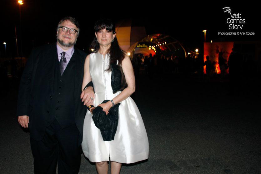 """Guillermo del Toro et son épouse,  lors de la soirée du film """" Le petit prince """" de Mark Osborne - Festival de Cannes 2015 - Photo © Anik COUBLE"""