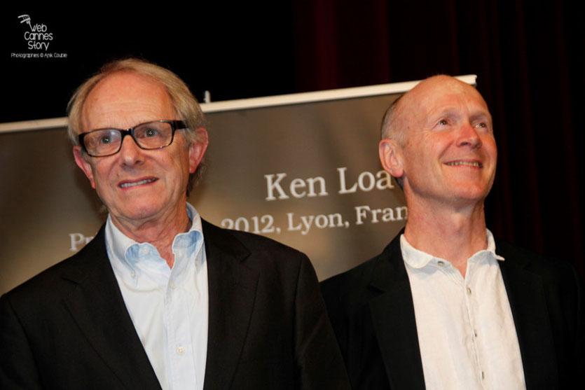 Ken Loach et Steve Evets - Festival Lumière 2012 - Lyon - Photo © Anik Couble