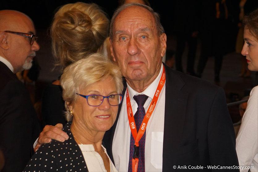 Max Lefrancq-Lumière, petit-fils de Louis Lumière et son épouse Michèle, lors de la Cérémonie de Remise du Prix Lumière - Festival Lumière 2018 - Lyon - Photo © Anik Couble