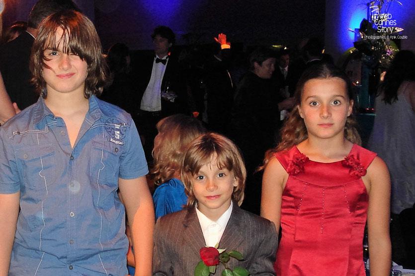 """Les jeunes acteurs du film """" The tree """" de Julie Bertuccelli,  lors de la soirée de Clôture - Festival de Cannes 2010 - Photo © Anik Couble"""
