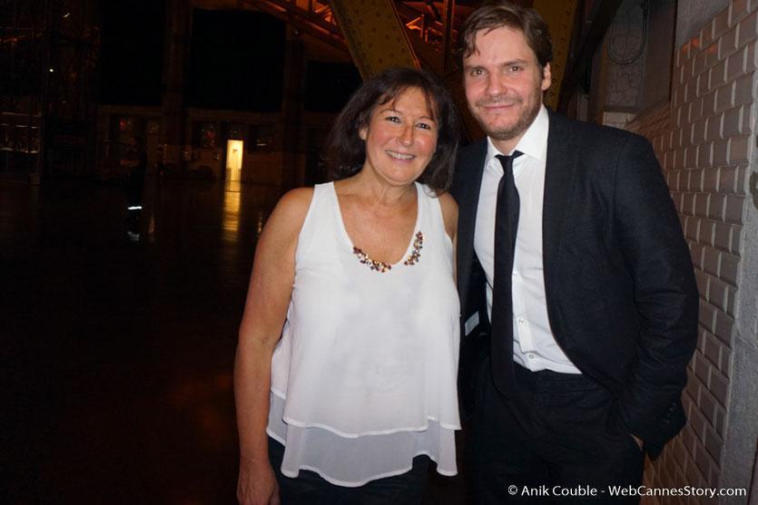 Ma rencontre avec Daniel Brühl, lors du dîner d'ouverture du Festival Lumière 2017, à Lyon - Photo © Anik Couble