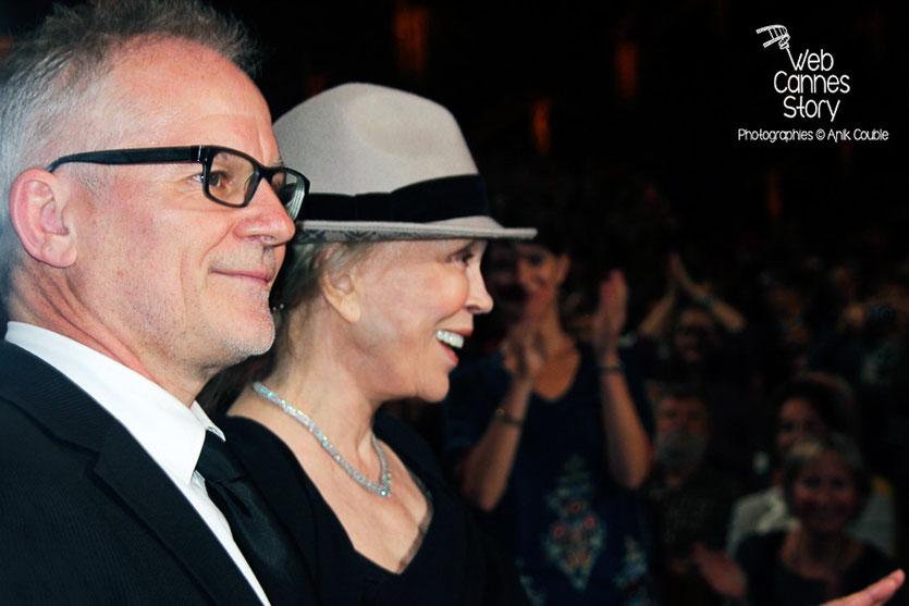 Thierry Fremaux et Faye Dunaway - Lyon - Ouverture du Festival Lumière 2014 - Photo © Anik COUBLE