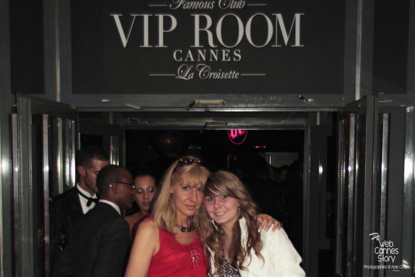 Patricia Vermare (Discothèque l'Imprévu à Lyon) et sa fille Jessica Claude, au Vip Room de Jean-Roch - Festival de Cannes 2012 - Photo  © Anik Couble