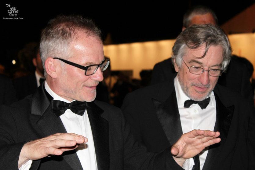 Robert de Niro, Président du Jury et Thierry Fremaux - Festival de Cannes 2011 - Photo © Anik Couble
