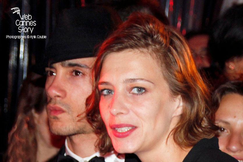 Céline Sallette et Rachid Yous, lors de la soirée du film «Géronimo» de Tony Gatlif - Festival de Cannes 2014 - Photo © Anik COUBLE