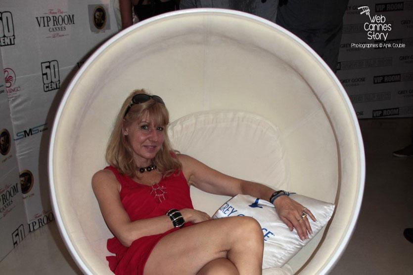 Patricia Vermare (Discothèque l'Imprévu à Lyon)  au Vip Room  de Jean-Roch - Festival de Cannes 2012 - Photo  © Anik Couble