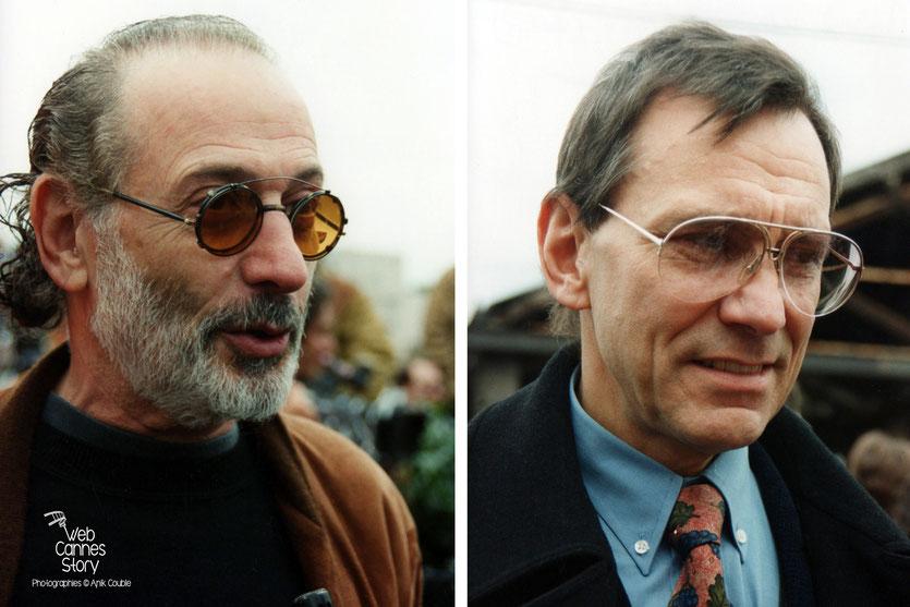 Jerry Schatzberg (USA) et Andreï Konchalovsky (ex URSS)  - Centenaire du Cinéma - Institut Lumière - Lyon - 19 mars 1995 - Photo © Anik COUBLE