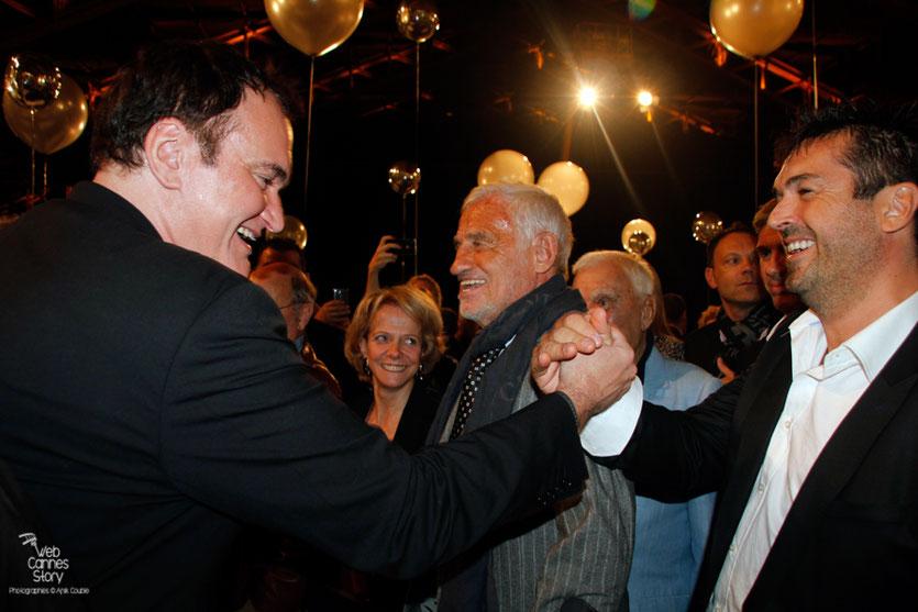 La rencontre de Quentin Tarantino et Jeff Domenech, lors du  Festival Lumière - Lyon - Oct 2013 - Photo © Anik COUBLE