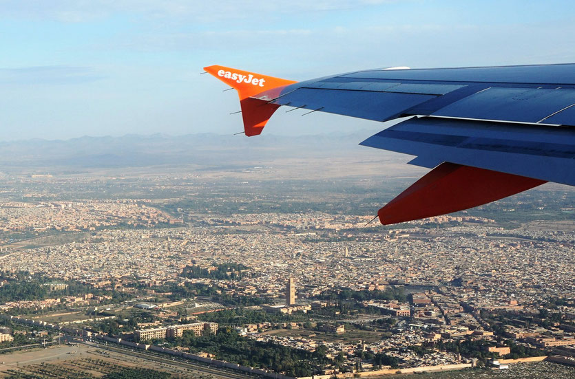 La Koutoubia et la ville Marrakech vues d'avion -  Marrakech  2015 - Photo © Anik Couble