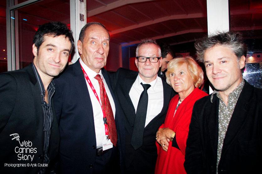 Mathieu Demy, Max Lefrancq-Lumière, Thierry Fremaux, Michèle Lefrancq Lumière et Eric Guirado - Festival Lumière - Lyon - Octobre 2013 - Photo © Anik COUBLE
