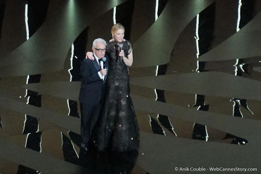 Martin Scorsese et Cate Blanchett, déclarent ouvert, le Festival de Cannes 2018 - Photo © Anik Couble