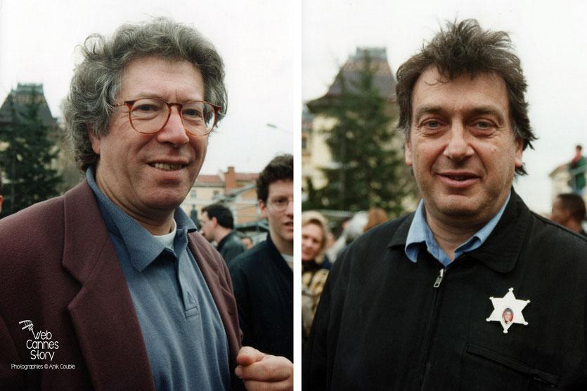 Claude Miller (France) et Stephen Frears (GB)  - Centenaire du Cinéma - Institut Lumière - Lyon - 19 mars 1995 - Photo © Anik COUBLE