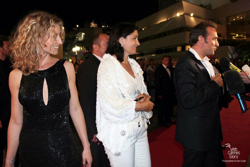 Alexandra Lamy et Jean Dujardin, Prix d'interprétation masculine - Festival de Cannes 2011 - Photo © Anik Couble