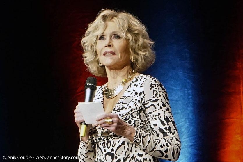 Jane Fonda, irrésistible, détendue et sincère, lors de la Cérémonie de Remise du Prix Lumière - Festival Lumière 2018 - Lyon - Photo © Anik Couble