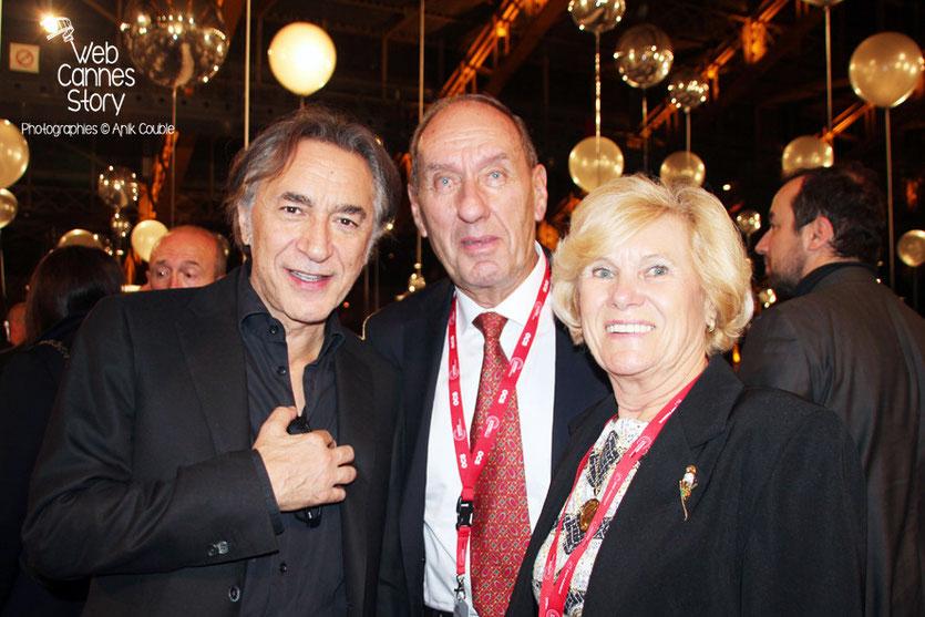 Max Lefrancq-Lumière, entouré de son épouse Michèle et de Richard Berri - Festival Lumière - Lyon - Octobre 2013 - Photo © Anik COUBLE