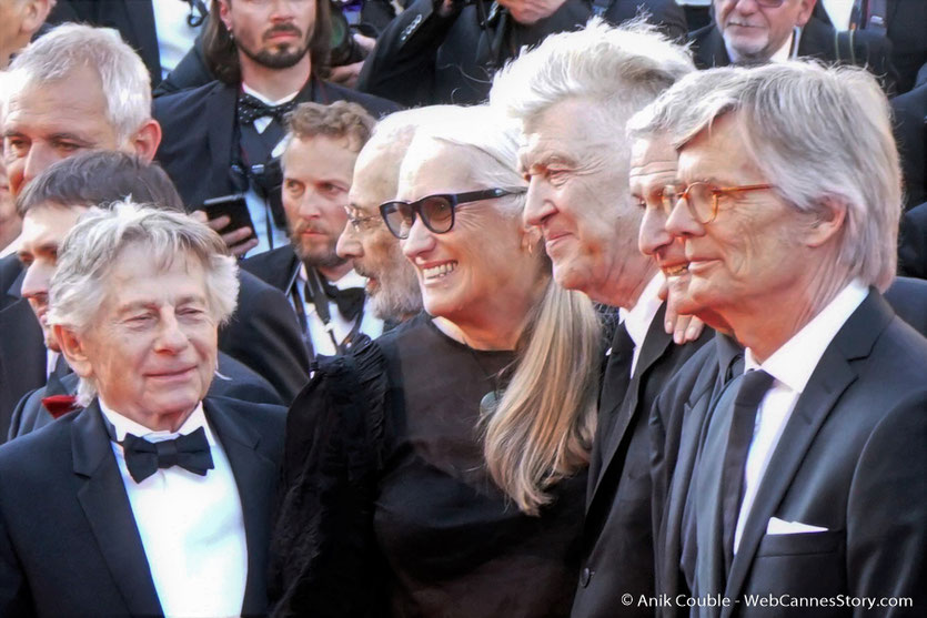 Laurent Cantet, Cristian Mangiu, Roman Polanski, Jerry Schatzberg, Jane Campion, David Lynch, Claude Lelouch et Bille August - Red Carpet - Cérémonie des 70 ans du Festival de Cannes - Festival de Cannes 2017 - Photo © Anik Couble