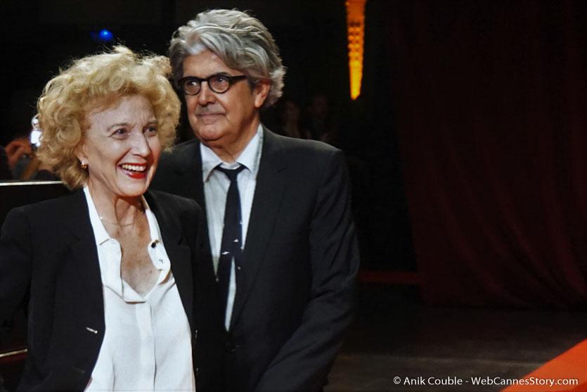 Marisa Paredes et Chema Prado, lors de la cérémonie d'ouverture du Festival Lumière 2017, à Lyon - Photo © Anik Couble