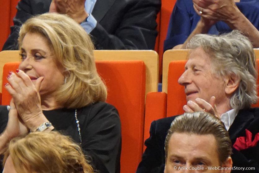 Catherine Deneuve et Roman Polanski - Cérémonie de remise du Prix Lumière - Amphithéâtre 3000 - Lyon - Oct 2016 - Photo © Anik Couble