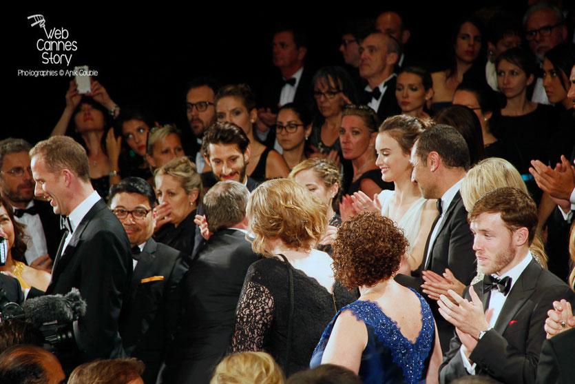 """Projection du film """" Vice-Versa """" de Pete Docter et Ronnie del Carmen, en leur présence et celle de John Lasseter, Lewis Black, Charlotte Le Bon, Gilles Lellouche,  Marilou Berry et Pierre Niney - Festival de Cannes 2015 - Photo © Anik COUBLE"""