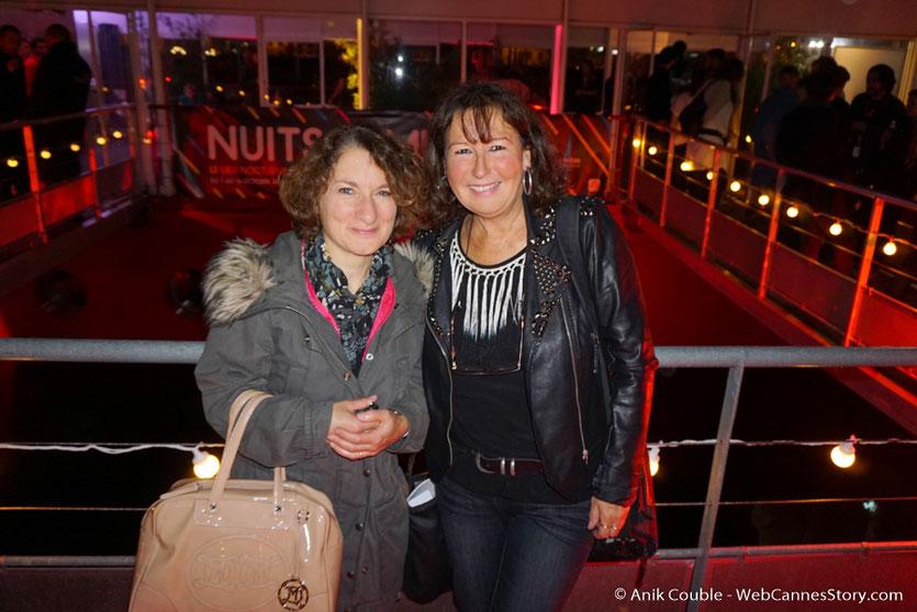 Anik Couble, len compagnie de Catherine Laubier, lors d'une très festive soirée à La Plateforme - Nuits Lumière - Festival Lumière 2016 - Lyon - Photo © Anik Couble