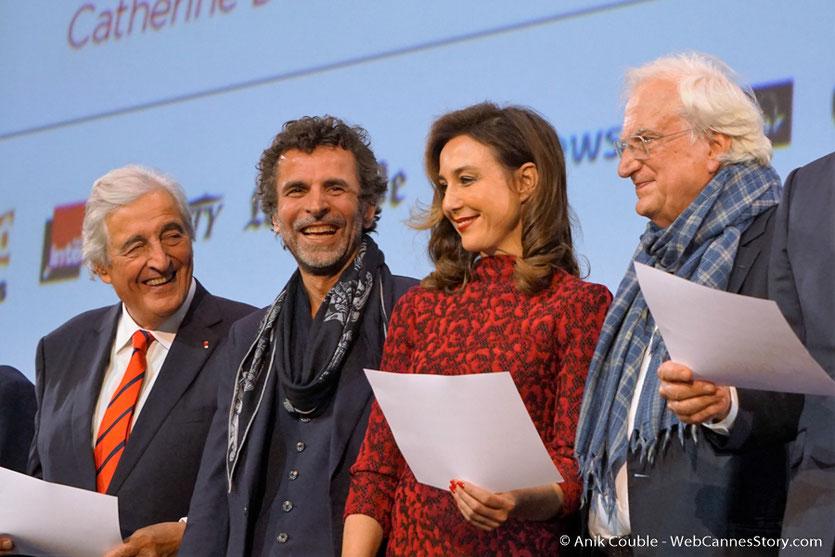 Bertrand Tavernier, Elsa Zylberstein, Eric Lartigau et Jean-Loup Dabadie - Cérémonie d'ouverture - Festival Lumière 2016 - Lyon - Photo © Anik Couble