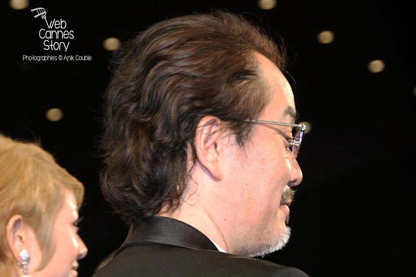 """Lily Franky, acteur du film japonais """"Tel père, tel fils""""   de Kore-Eda Hirokazu - Festival de Cannes 2013 - Photo © Anik COUBLE"""