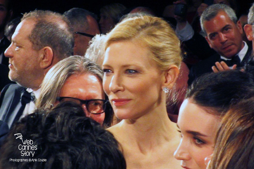 "Cate Blanchett et Rooney Mara, lors de la projection de ""Carol""de Todd Haynes -  Festival de Cannes 2015  - Photo © Raymond Haïk"