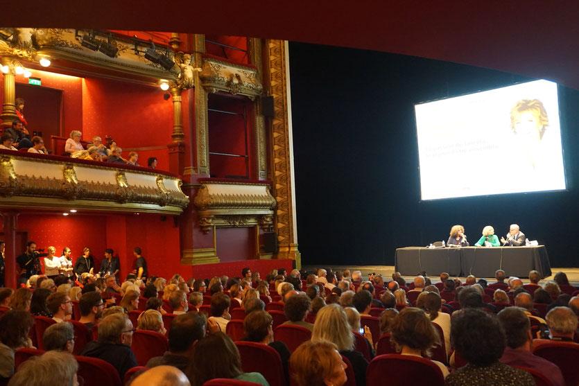 Jane fonda, sur la scène du superbe Théâtre des Célestins , lors de sa Master Class - Festival Lumière 2018 - Lyon - Photo © Anik Couble