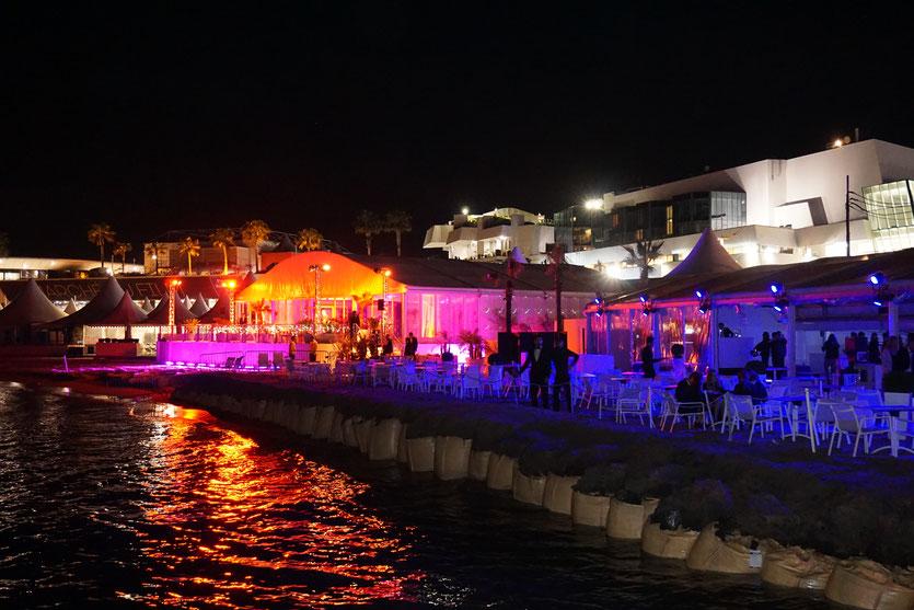 Plage de l'Hôtel Majestic Barrière – Soirée d'ouverture - Festival de Cannes 2016 - Photo © Anik Couble