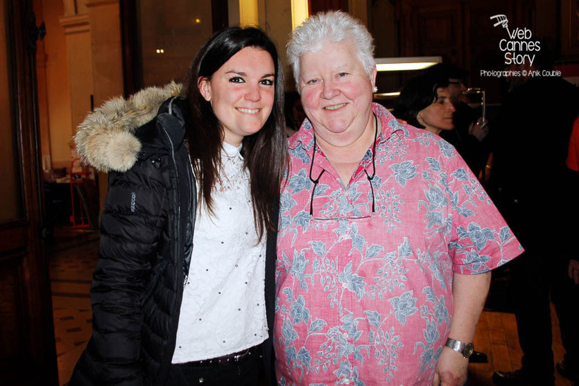 Val McDermid (Ecosse) et Laura Couble - Quais du Polar 2015 - Lyon - Photo © Anik COUBLE