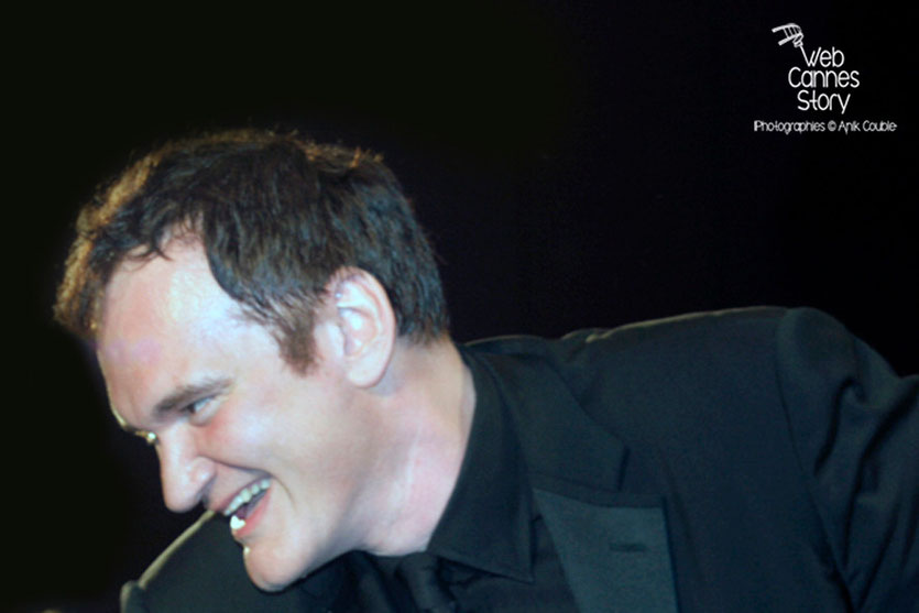"Quentin Tarantino, lors de la projection du film ""Inglorious Basterds"" - Festival de Cannes - 2009 - Photo © Anik COUBLE"