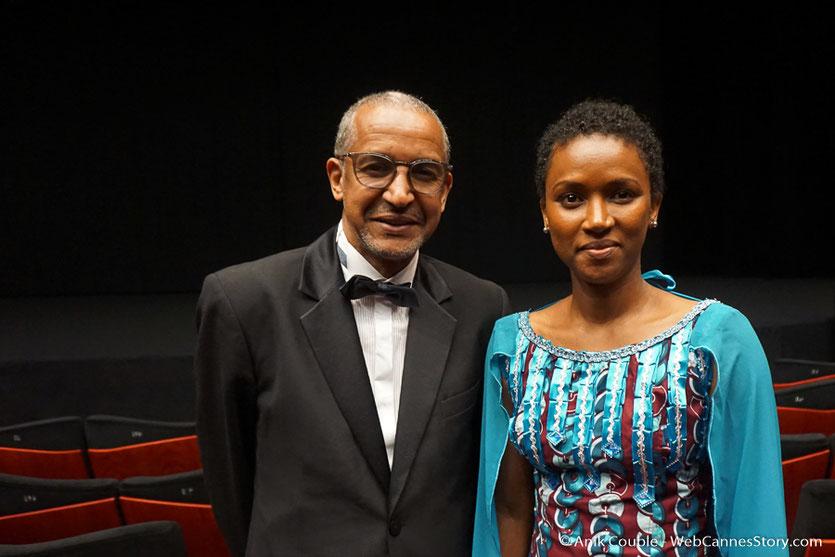 Abderrahmane Sissako et son épouse Kessen Tal, lors de la cérémonie d'ouverture, du Festival de Cannes 2018 - Photo © Anik Couble
