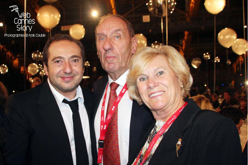 Max Lefrancq-Lumière, entouré de son épouse Michèle et de Patrick Timsit - Festival Lumière - Lyon - Octobre 2013 - Photo © Anik COUBLE