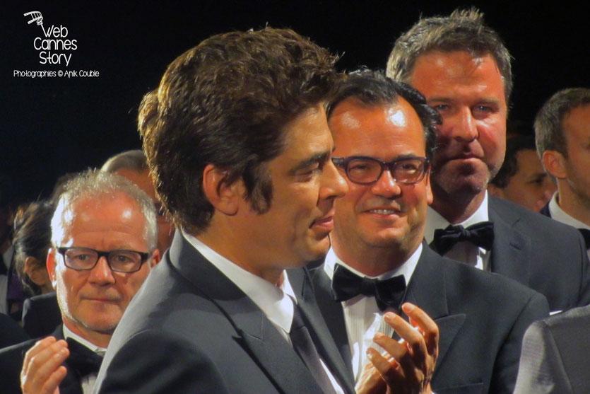 "Benicio Del Toro, lors la projection du film ""Sicario"" de Denis Villeneuve - Festival de Cannes 2015 -  Photo © Raymond Haïk"