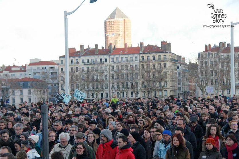 """Marche républicaine """"Je suis Charlie"""" pour la Liberté de la Presse et contre le Terrorisme """" - Lyon - 11 janvier 2015 - Photo © Anik COUBLE"""