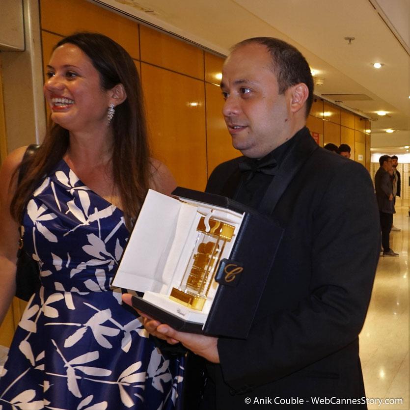Alice Rohrwacher, réalisatrice italienne - Prix du scénario (Ex aequo), pour son film  « Lazzaro Felice »- Festival de Cannes 2018 - Photo © Anik Couble