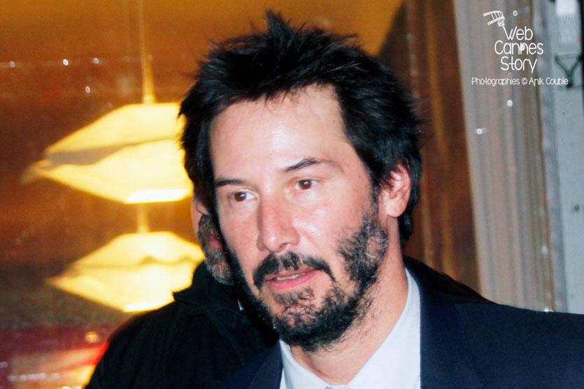 Keanu Reeves, venu présenté le documentaire «Side by Side» qu'il co-signe avec le  réalisateur, Chris Kenneally - Festival Lumière - Lyon - Octobre 2014 - Photo © Anik COUBLE