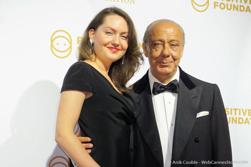 Fawaz Gruosi, et son épouse Sophie Taylor, lors du dîner de gala de la Fondation Positive Planet et de la remise des prix de la Positive Cinema Week 2017 - Festival de Cannes 2017 - Photo © Anik Couble